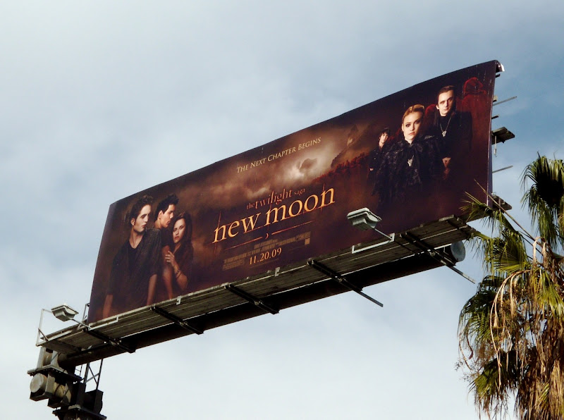 Twilight New Moon movie billboard