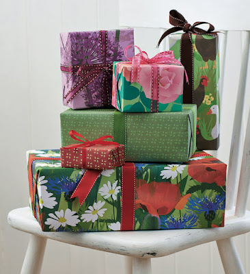 Jane Crick giftwrapped parcels