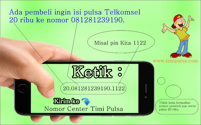 Cara Jualan Pulsa via SMS di Timi Pulsa