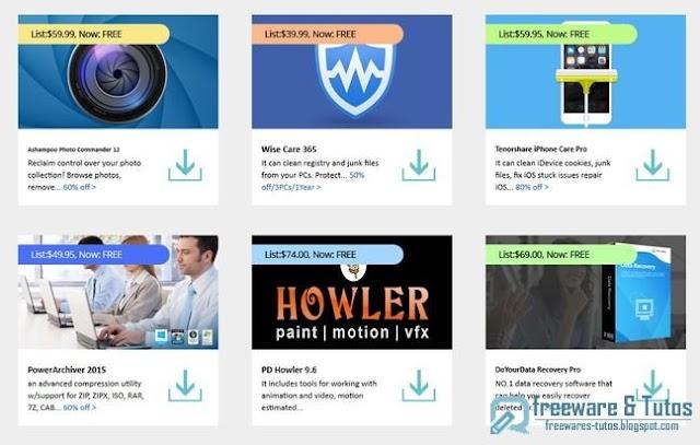 Offre promotionnelle : 6 logiciels commerciaux en version gratuite !