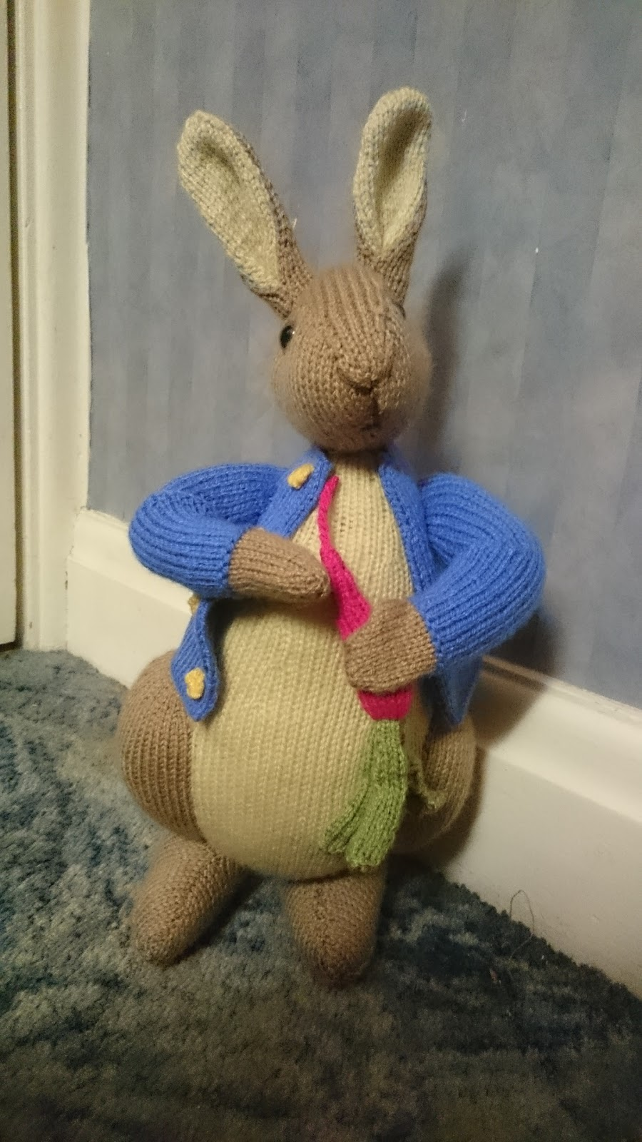 Knitting Pattern For Peter Rabbit Jumper : Freddie Patmores Knitting Frolics: Peter Rabbit Knitting Pattern - A Chr...