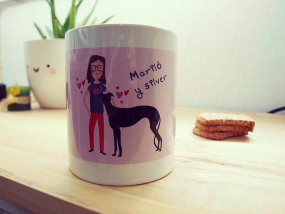 Una taza adorable - regalos para decir Te quiero - Dibucos