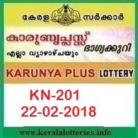 KARUNYA PLUS (KN-201) LOTTERY RESULT