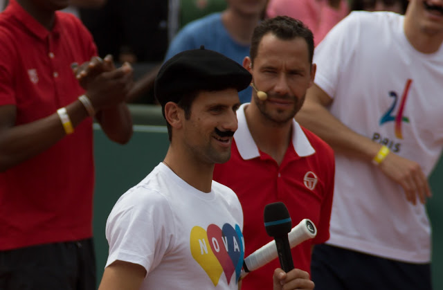 Novak Djokovic - Michael Llodra tennis roland-garros