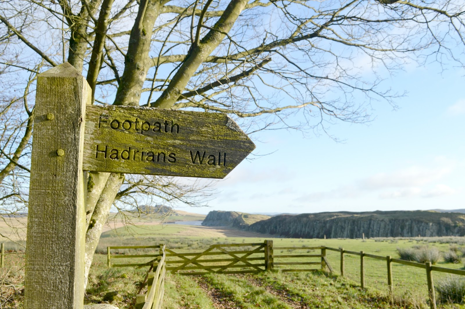 Walking Hadrian's Wall in Winter - Footpath