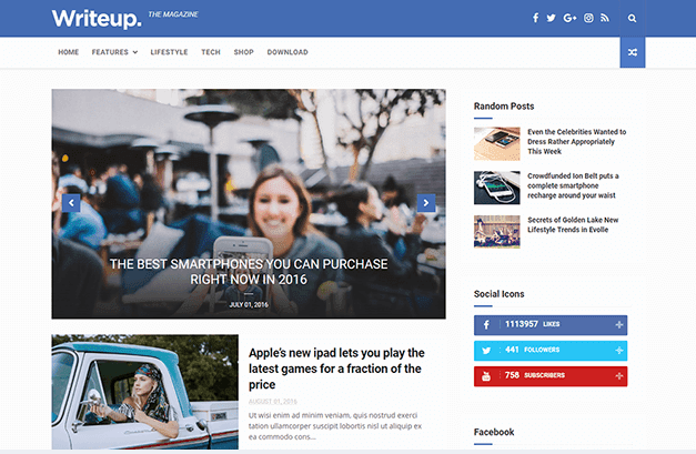 Simple And Responsive Blogger Template You Can Also Customize The Width Of According To Your Device Screen Writeup Personal Is Best Suitable