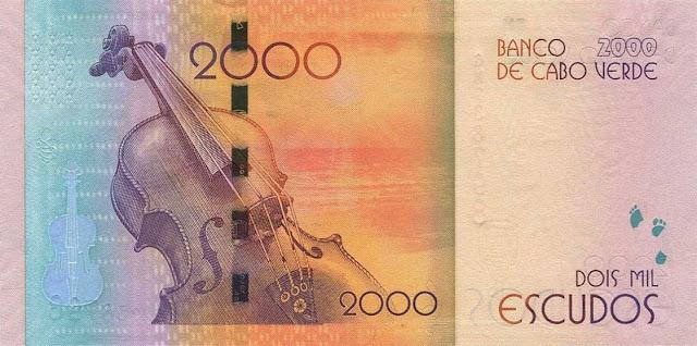 Cape Verde 2000 Escudos banknote 2014 Violin