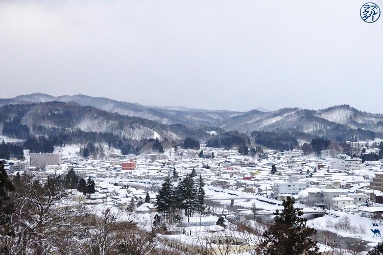 Le Chameau Bleu - Voyage au Nord du Japon - Tohoku - Vue du chateau de Yokote