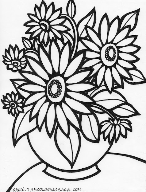 Flower Coloring Pages Free With Amazing Of Free Flower Coloring Pages For  Adults In Flow