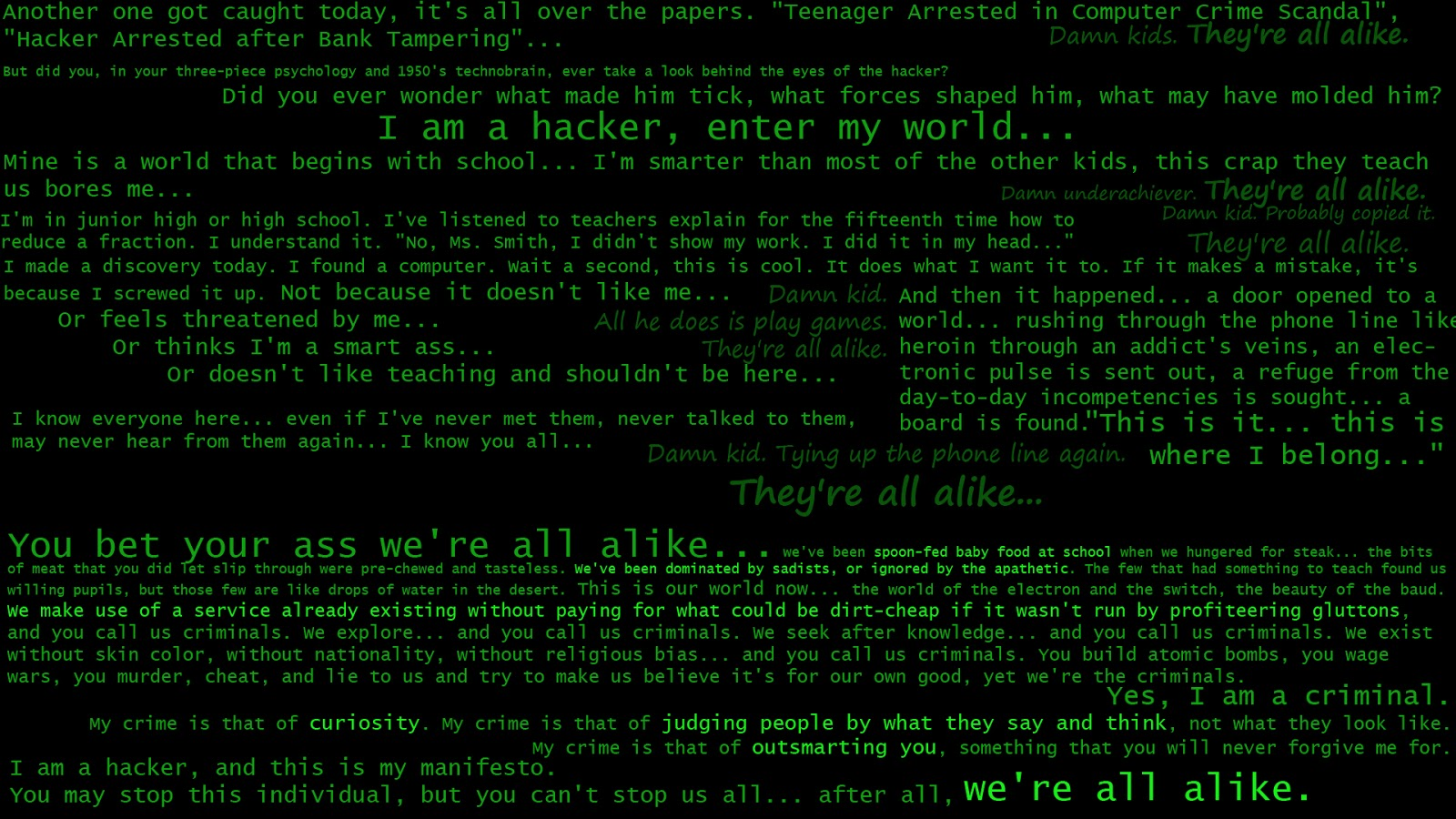Best HD Hackers Wallpapers Part VI - Wanna Be hacker | Tricks and Tips | All technology News
