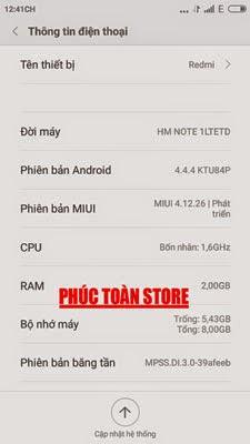 Tiếng Việt Xiaomi note 1LTETD alt