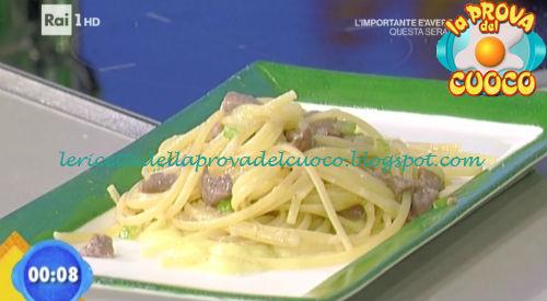 Linguine al ragù in bianco con porri e pancetta ricetta Fava da Prova del Cuoco