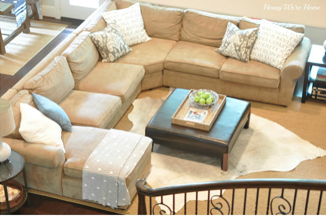 Pottery Barn Living Room Sofas Turquoise Chair Our Sectional Pearce A Review Honey This Comes In Four Pieces And Can Be Configured So That The Chaise Is On Left Or Right You Have To Careful When Placing Your Order