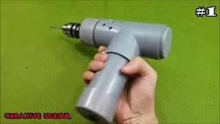membuat sendiri bor mini super power dari motor 775