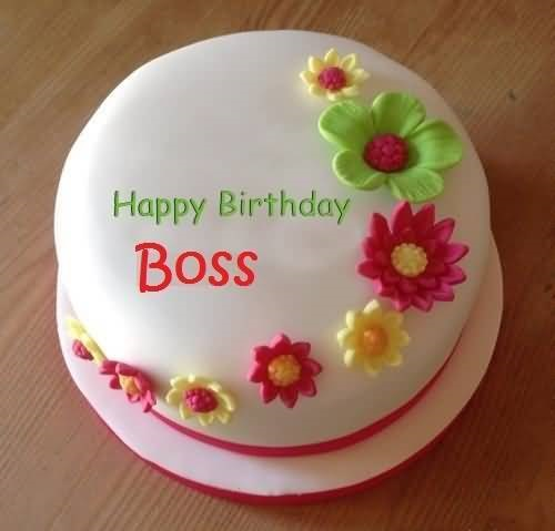 Message To Boss Cake Images