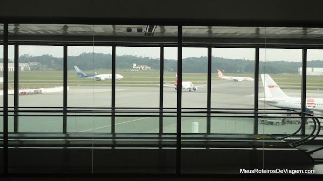 Aviões no pátio do Aeroporto de Guarulhos