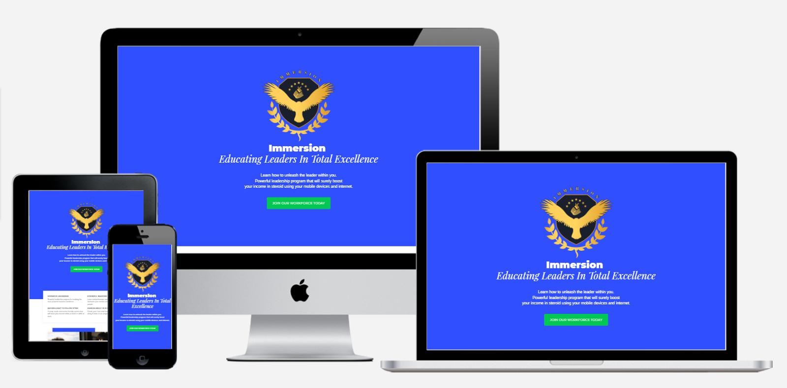 Immersion Member Web App | Progressive Web App - Emerson