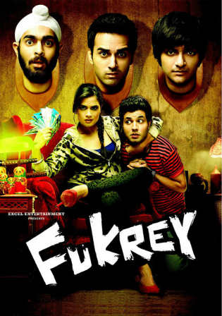 Fukrey 2013 BluRay 400Mb Full Hindi Movie Download 480p Watch Online Free bolly4u