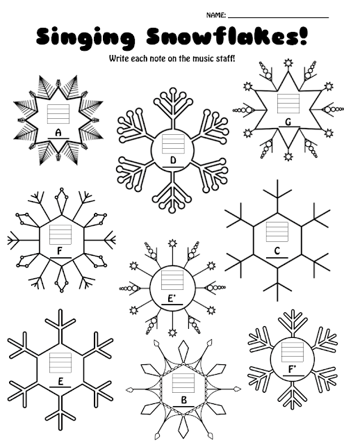 http://www.teacherspayteachers.com/Product/Singing-Snowflakes-Note-Reading-Assessment-1551138