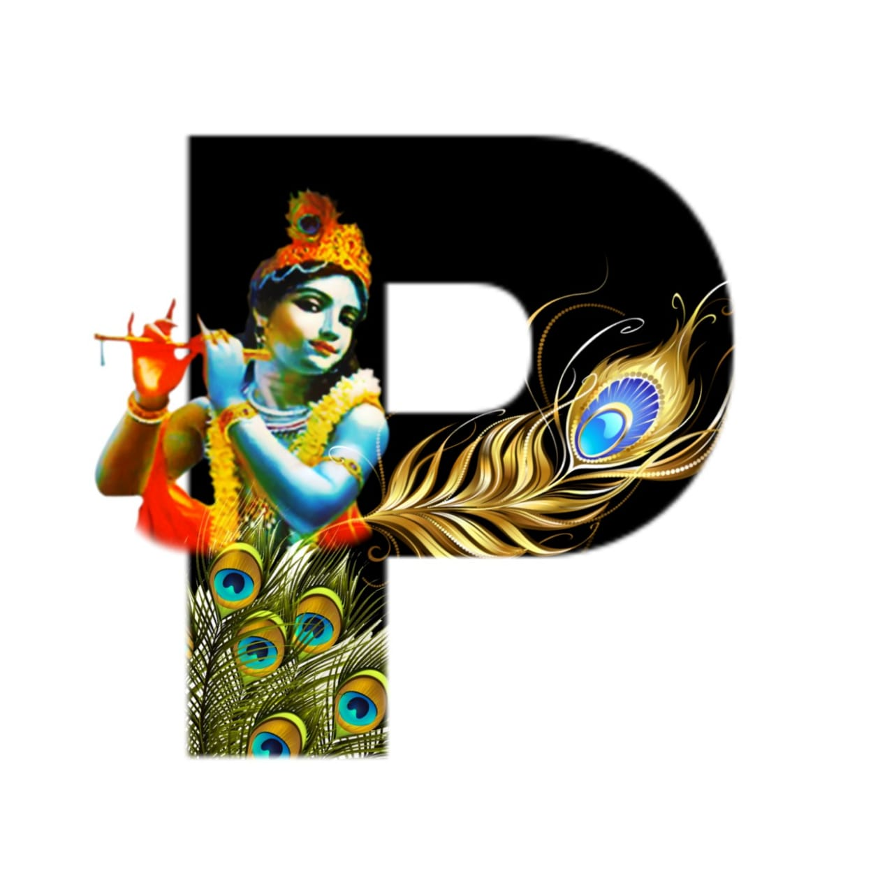 shree krishna alphabet p images