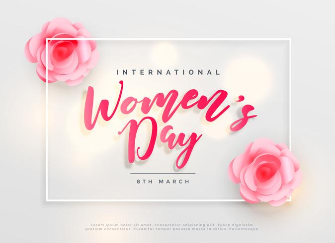 8 march Lovely Happy Women's Day International Celebration Background free vector