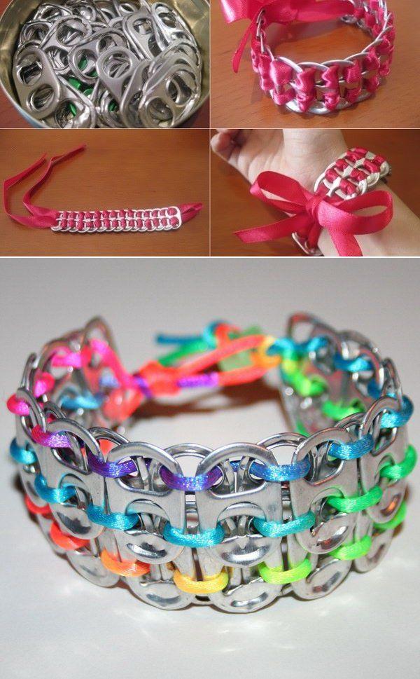 Make A Bracelet Using Pop Tabs