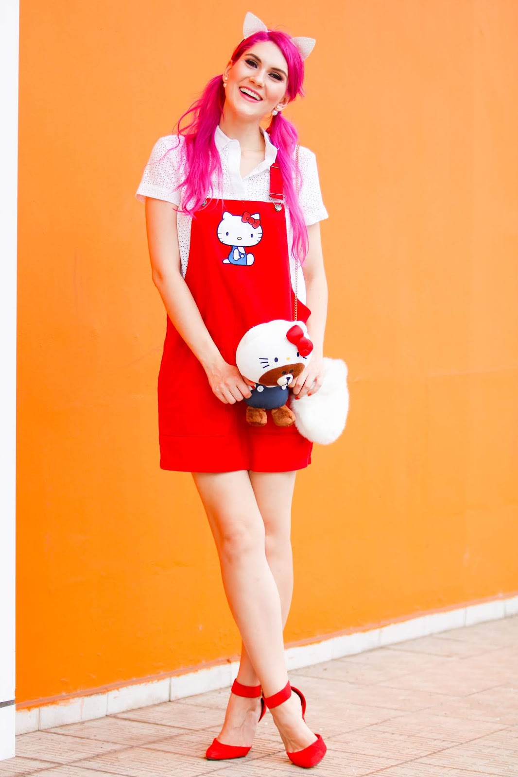 Hello Kitty Overalls Outfit
