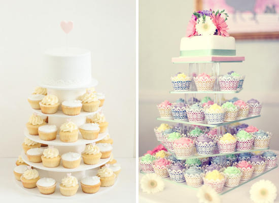 Wedding cake alternative ideas, cupcakes tower
