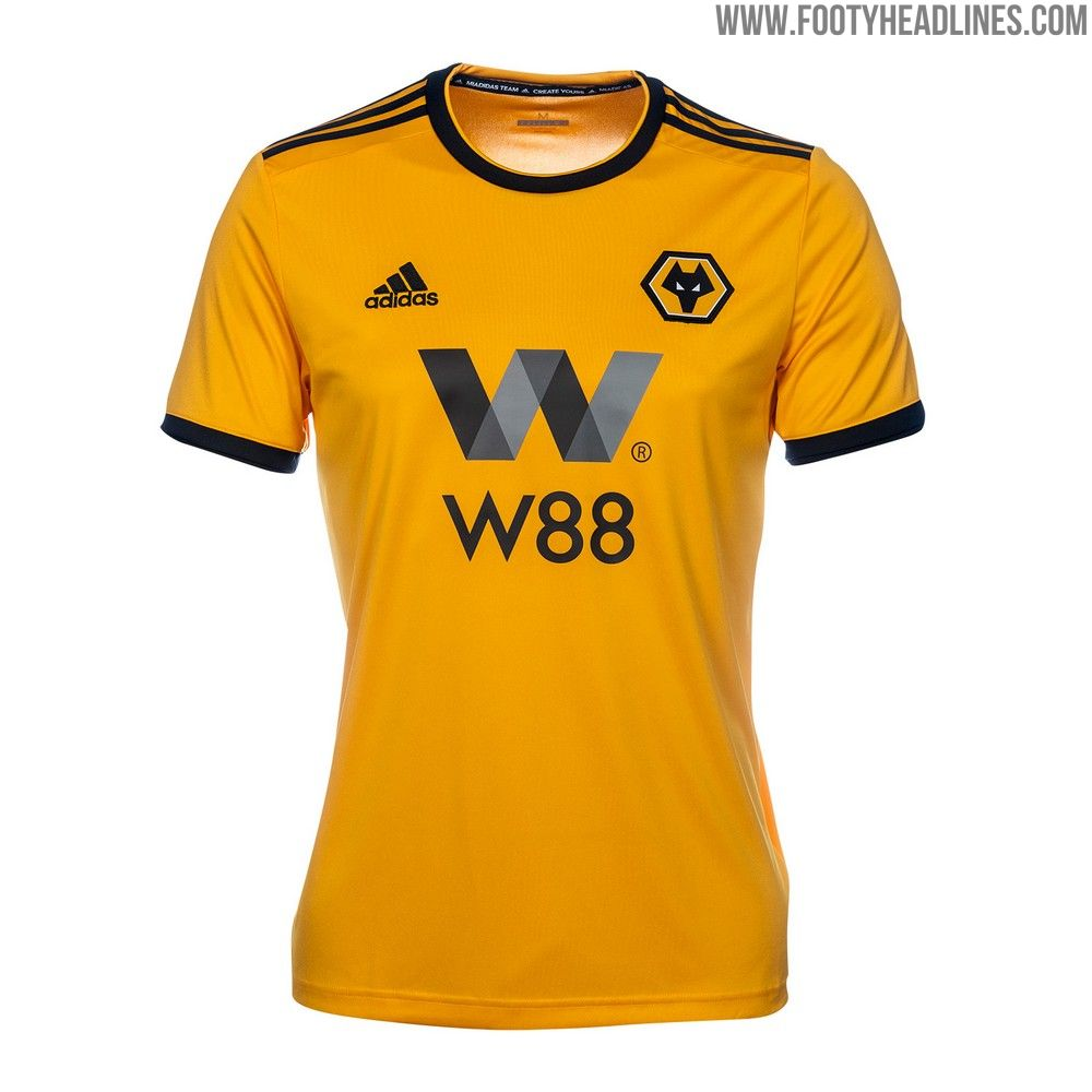 The Wolverhampton 2018-2019 home kit might be based on a standard Adidas  template e1fc448eb