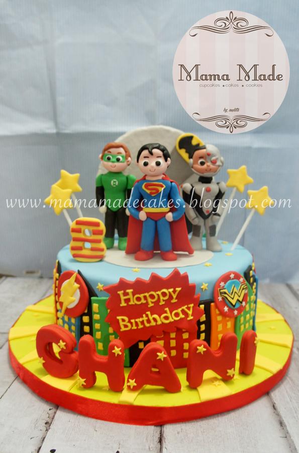 Magnificent Justice League Superhero Cake Mama Made Cakes Funny Birthday Cards Online Kookostrdamsfinfo