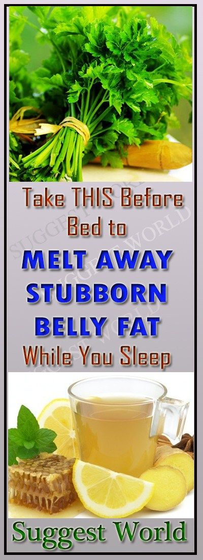 Take THIS Before Bed To Melt Away Stubborn Belly Fat While
