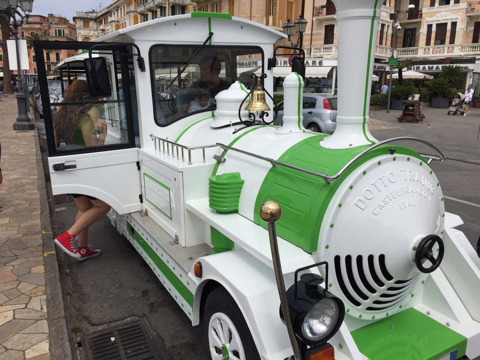 Toy Train on the roads of Rapallo and Santa Margherita