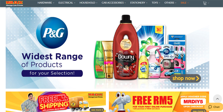 Shopping online di Mr.Diy