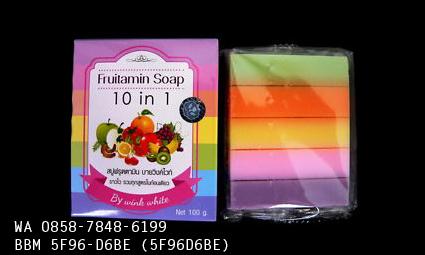Sabun Pemutih Wajah Dan Badan Permanen Aman Alami Fruitamin Soap
