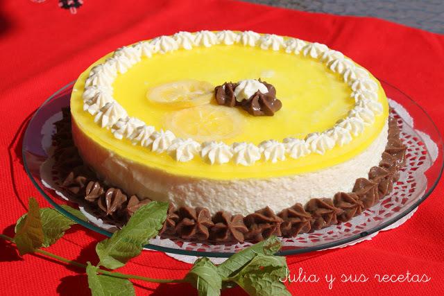 Tarta mousse de limón. Julia y sus recetas