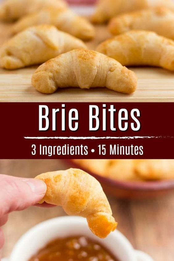 Brie Bites 3 ingredients and 15 minutes