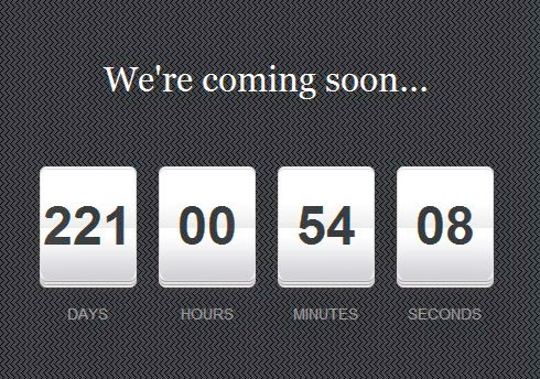 jQuery Countdown Timer Widget in Blogger