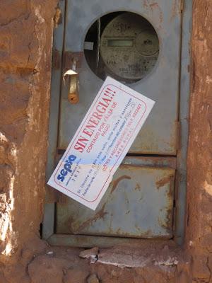 Hinweis auf eine Stromsperre wenn die Rechnung nicht bezahlt wird