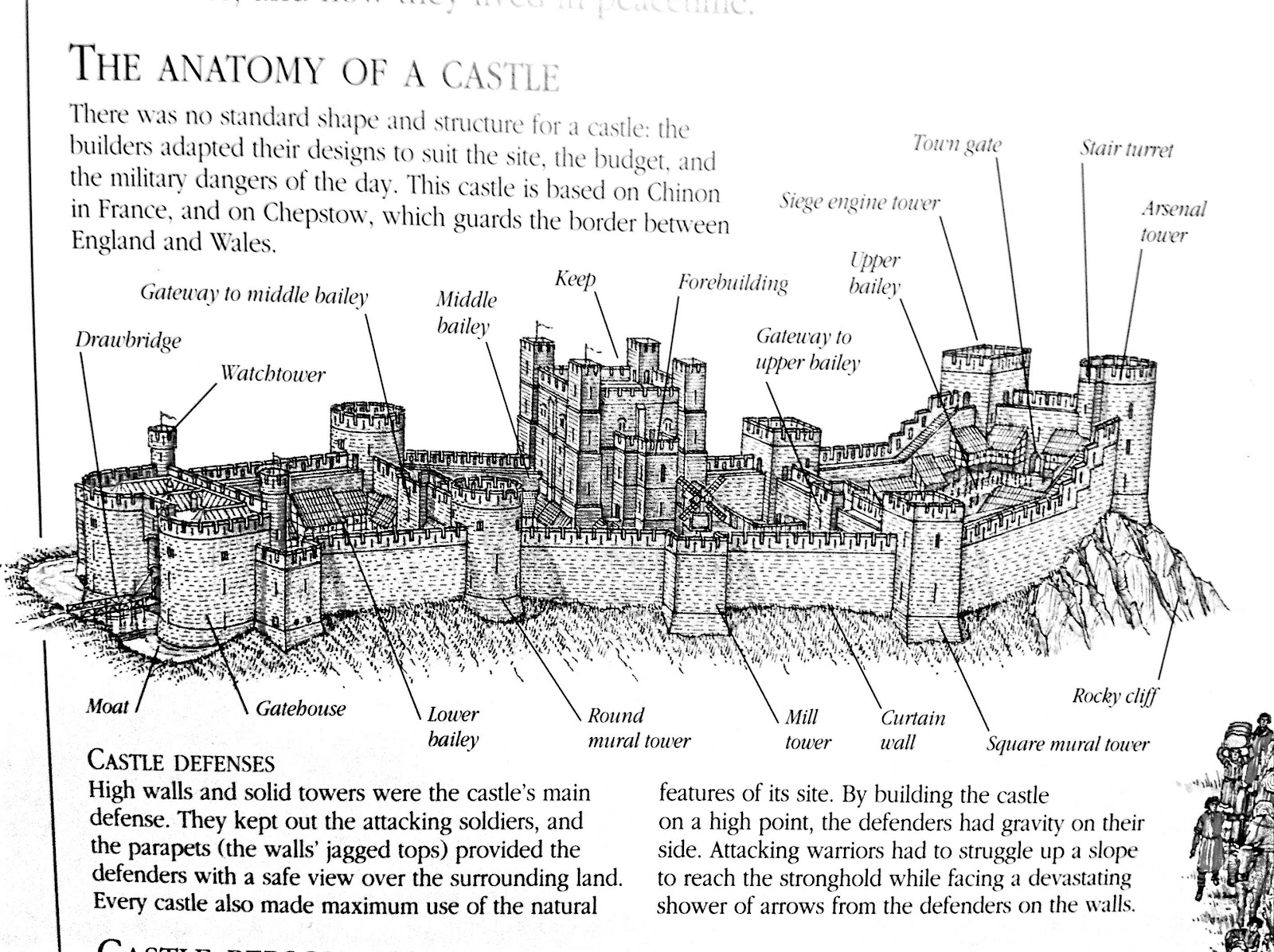 castle diagram worksheet external fetal pig muscle the helpful art teacher medieval castles