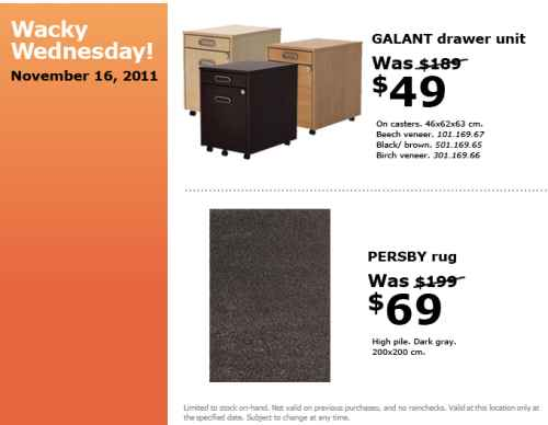 Canadian Daily Deals: IKEA Canada: Wacky Wednesday Deals ...