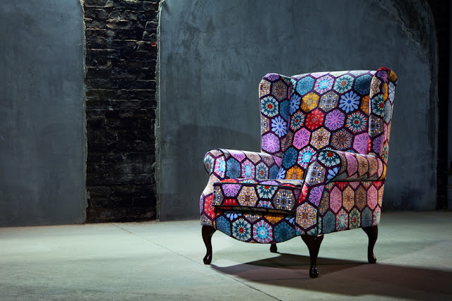 Colourful vintage armchair