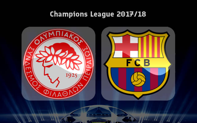 Olympiacos vs Barcelona Full Match & Highlights 31 October 2017