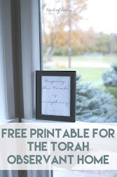 Free Printable for the Hebrew Home