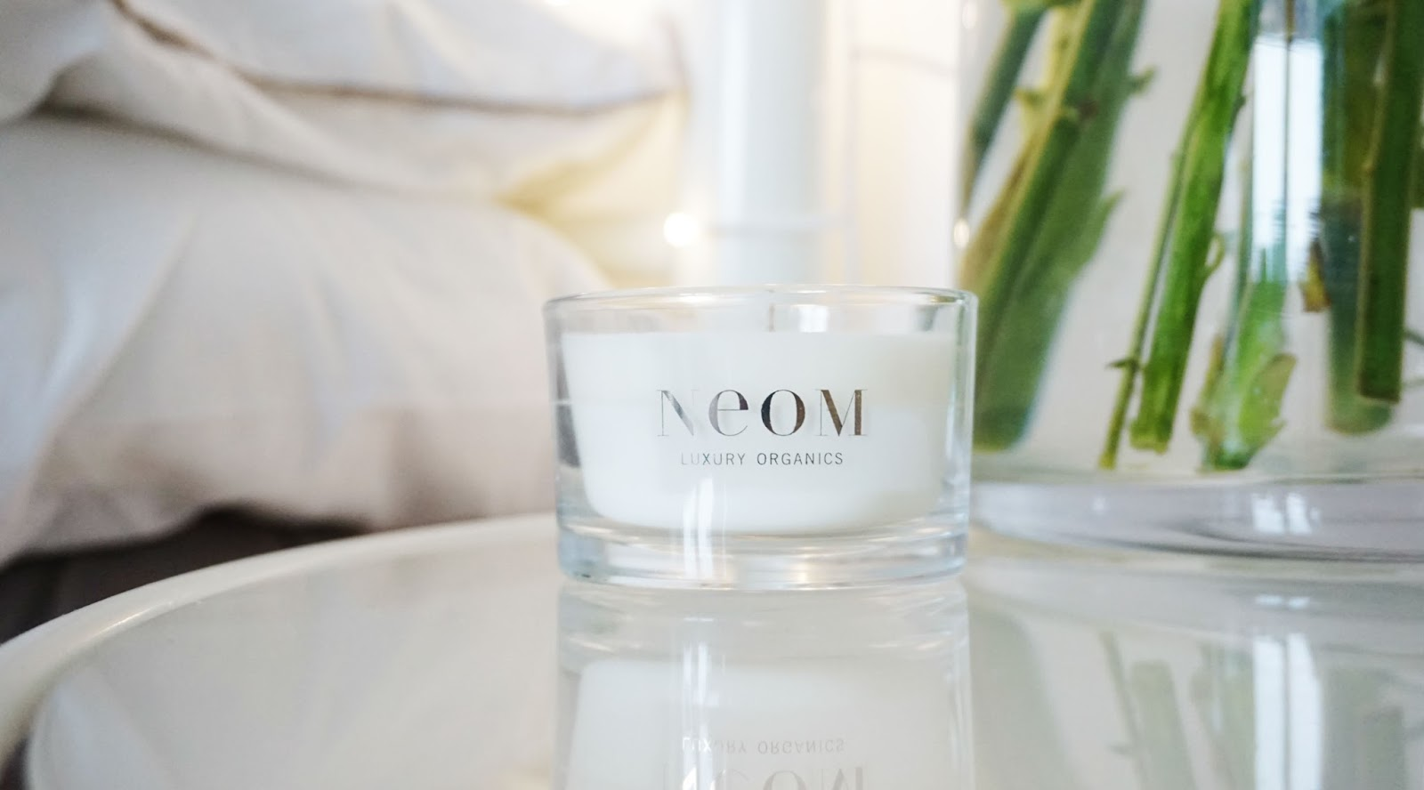 neom candle spring bedroom fresh flowers interiors homeware