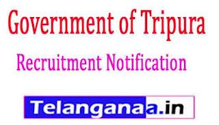 Government of Tripura Recruitment Notification 2017