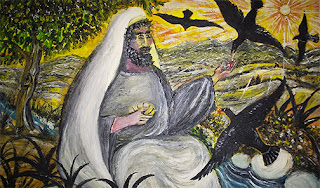 Painting of Elijah at River Cherith