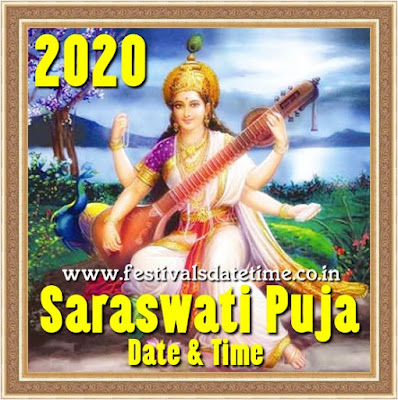 2020 Saraswati Puja Date in West Bengal & India