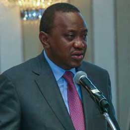 Uhuru Kenyatta in a past function in Nairobi. Image: Nation Media