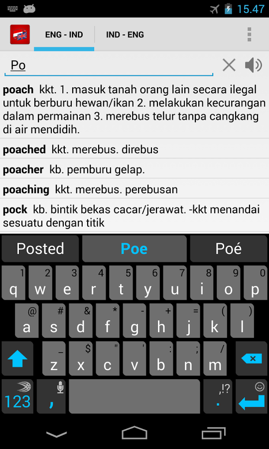 Download kamus Offline indonesia inggris Hp Android