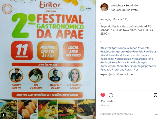 Festival Gastronômico APAE Rio Preto